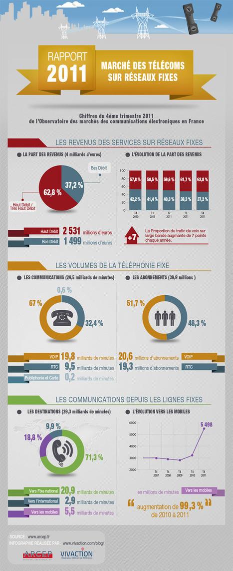 Infographie - Marché des Télécoms sur Réseaux Fixes - Rapport 2011 | Infography | Scoop.it