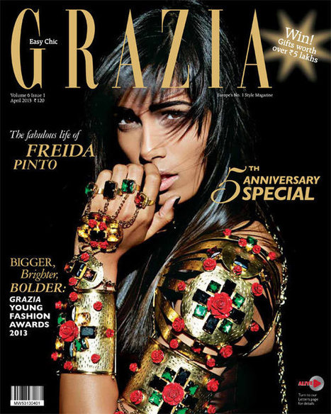 Frieda Pinto is the Cover Star of Grazia India's Fifth Anniversary Issue | TAFT: Trends And Fashion Timeline | Scoop.it