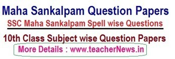 Maha Sankalpam Spell Question Papers Subject wi