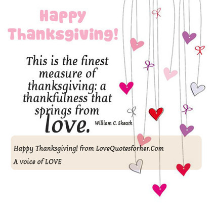 Happy Thanksgiving Quote Love Quotes For Her
