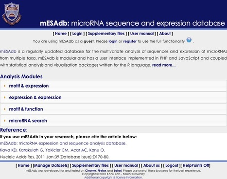 mESAdb: An miRNA Sequence and Expression Database | bioinformatics-databases | Scoop.it