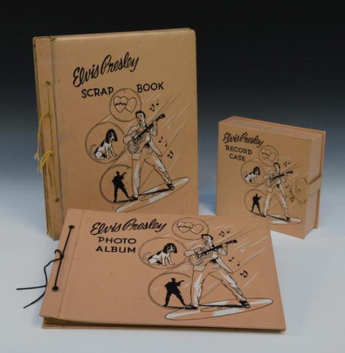 Vintage 1956 Elvis Presley Enterprises Scrapbook, Photo Album and Record Case | Antiques & Vintage Collectibles | Scoop.it