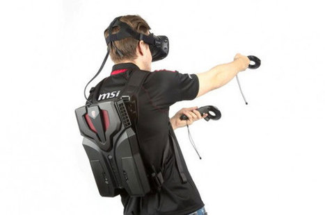 MSI VR One Backpack PC for HTC Vive - Cool Wearable | Virtual Patients, VR, Online Sims and Serious Games for Education and Care | Scoop.it