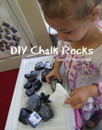 DIY chalk rocks for preschool | Teach Preschool | Scoop.it