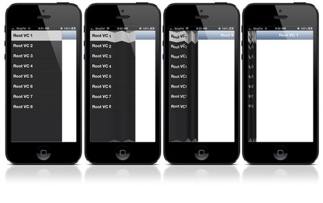 PaperFoldMenuController :A navigation menu on the left of the screen using on PaperFold | iPhone and iPad Development | Scoop.it