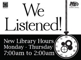 Walker Library News: Library's Expanded Hours (Finally!) | Tennessee Libraries | Scoop.it