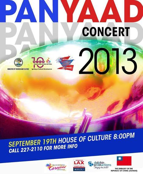 Paan Yaad Steel Band Concert will be held in Belize City on Thursday 9-19-2013 | Filmbelize | Scoop.it