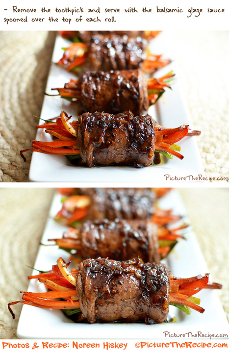 Balsamic Glazed Steak Rolls | Picture the Recipe | Really interesting recipes | Scoop.it