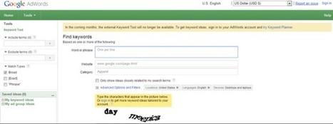 Google va supprimer son générateur de mots-clés : bienvenue à Keyword Planner ! (in English) | Bloguer | Scoop.it