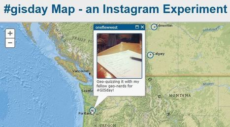 Watch GISDay Activities on the BlueRaster Instagram Map | TIG | Scoop.it