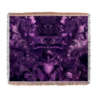 5681ad643ae Purple Glory Woven Blanket on CafePress.com