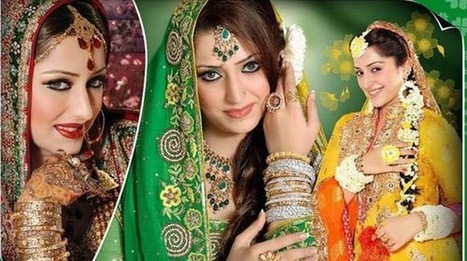 Pakistani Wedding Hairstyles Images For Girls