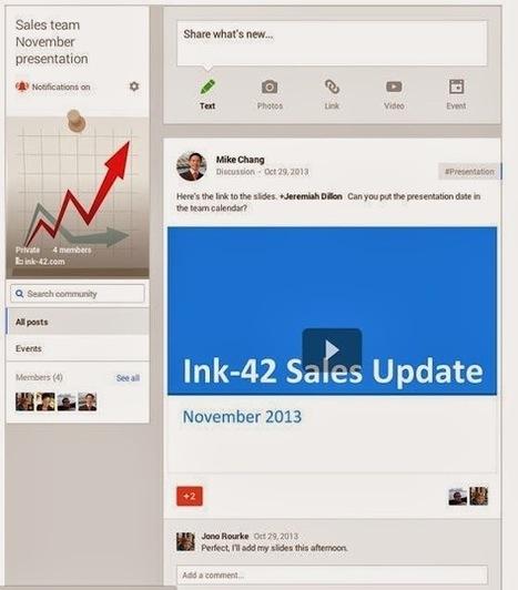 Google lance les Communautés Google+ intranet pour les Entreprises | Médias sociaux et tout ça | Scoop.it