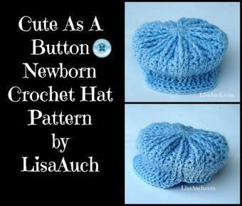 Cute As A Button Newborn Crochet Hat Pattern Fr