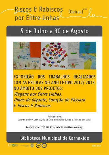 Oeiras a Ler: Exposição Riscos & Rabiscos por Entre Linhas   Biblos   Scoop.it