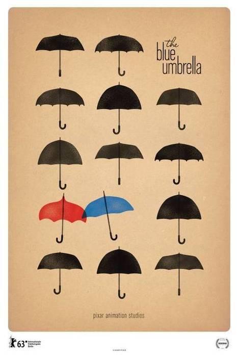 Elegant Poster For Pixar's The Blue Umbrella | Animation News | Scoop.it