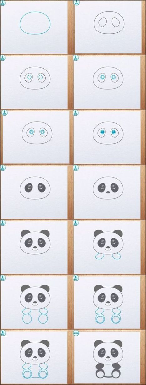 How To Draw A Panda | Drawing and Painting Tutorials | Scoop.it