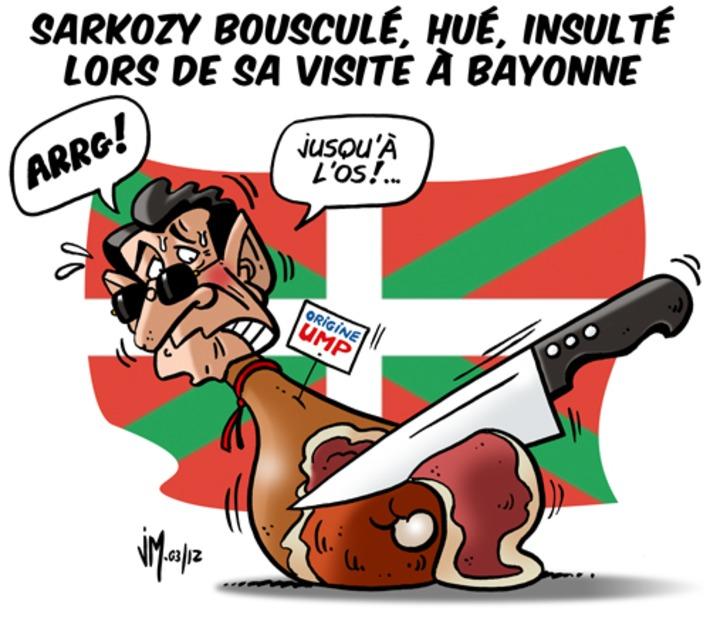 Sarkozy bousculé, hué, insulté lors de sa visite à Bayonne   Baie d'humour   Scoop.it