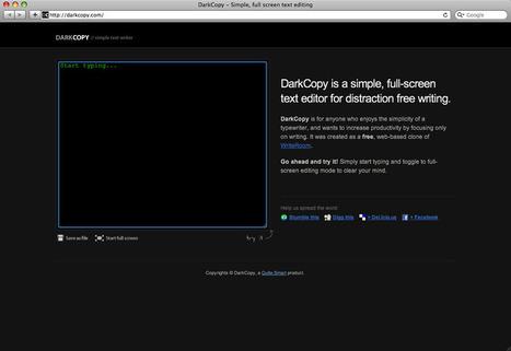 DarkCopy editor di testo online gratuito   Software e App per Scrivere un Libro   Scoop.it