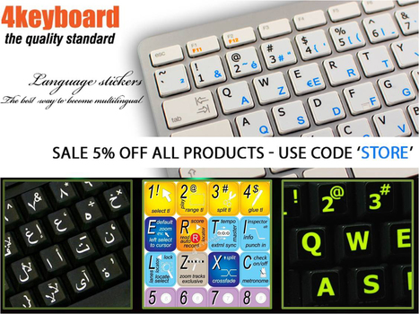 image relating to Printable Keyboard Stickers titled Printable Keyboard Stickers within just Keyboard sticker Scoop.it
