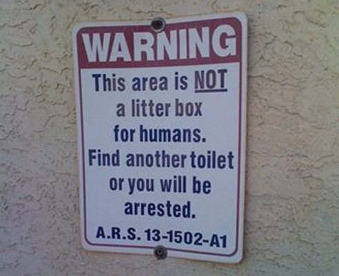 12 Funny Warning Signs