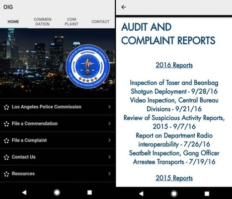 L.A. Police Commission Releases App For Filing Complaints And Reading Reports | Police Problems and Policy | Scoop.it