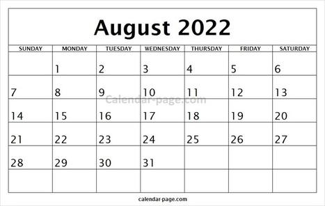 Free Printable Calendar 2022 In Calendar Page Scoop It