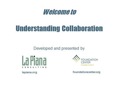 Understanding Collaboration – Program Materials | The Paul Clarke ... | Nonprofit Sharing | Scoop.it