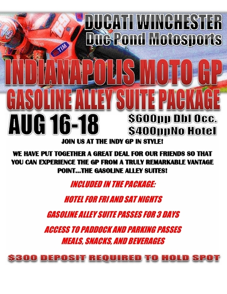 Indy MotoGP In Style With Duc Pond Motorsports! | Ductalk Ducati News | Scoop.it