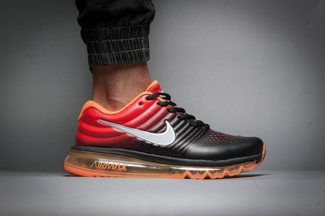 pretty nice 6adbe d8999 Nike Air Max 2017 Leather Black Orange Red Women Mens  airmax2017-0155  -  £63.00   Luxury Hot Bags Hut - Original Purses Factory Outlet Collection