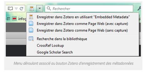 Ajouter une référence avec le nouveau menu [Zotero] | Zotero | Scoop.it