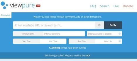 ViewPure. Les vidéos de Youtube et seulement les vidéos – Les Outils Tice | Ma boîte à outils | Scoop.it
