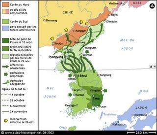 Guerra De Corea Mapa.La Guerra De Corea Caricatura La Guerra De C