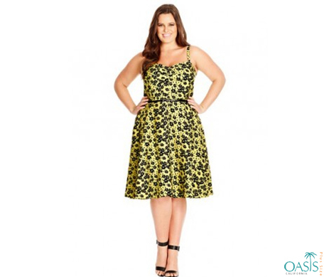 Strappy Floral Printed Skater Dress Manufacture...