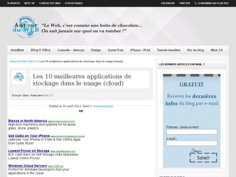 Les 10 meilleures applications de stockage dans le nuage (cloud) | Websourcing.fr | Outils et  innovations pour mieux trouver, gérer et diffuser l'information | Scoop.it