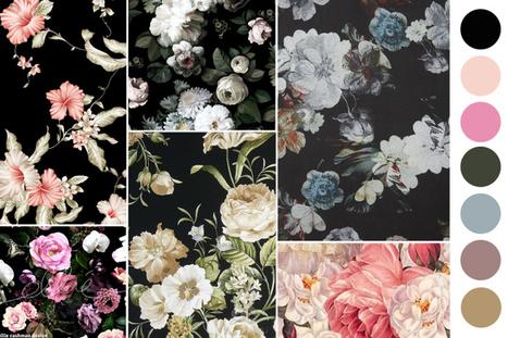 papier peint design' in tissu d'ameublement, art textile et papier