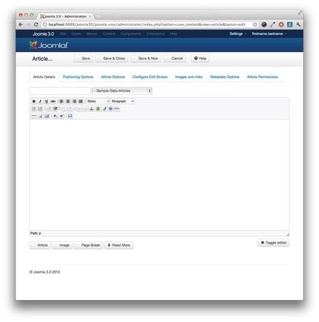 A First Look at the Mobile-Ready Joomla 3.0   Joomla! Community Portal   cms_joomla   Scoop.it