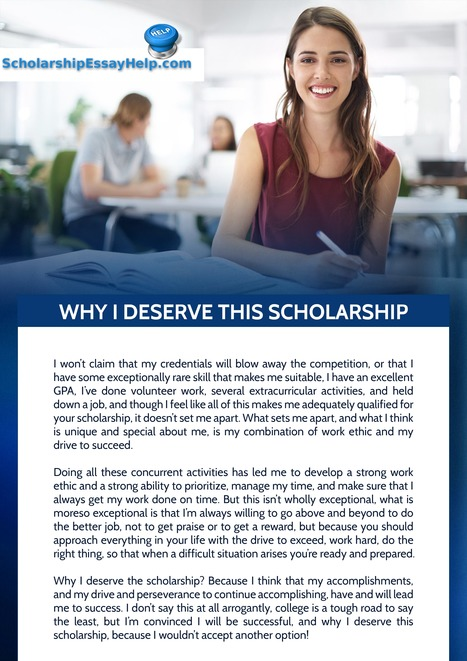 Why I Deserve This Scholarship Essay Sample | S