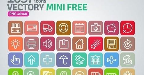 Vectory Mini Free, un pack gratuito con más de 1000 iconos variados | Recursos diseño gráfico | Scoop.it