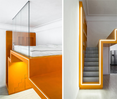 Angular Insert Adds Dual Staircases to Apartment Interior | What Surrounds You | Scoop.it