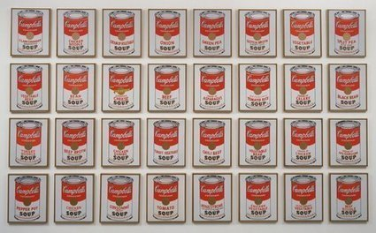 Campbell's Soup Cans by Andy Warhol, Painted in 1962 - Artsnapper | Cris Val's Favorite Art Topics | Scoop.it