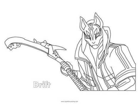 Fortnite Drift Coloring Page Coloring Squared