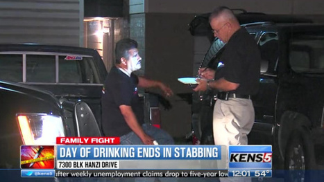 SAPD: Man stabbed after eight-hour drinking binge - KENS 5 TV | Aaron's Yr 9 Journal | Scoop.it