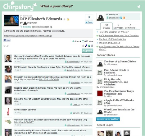 Chirpstory: Create stories from Tweets | Social Media Content Curation | Scoop.it