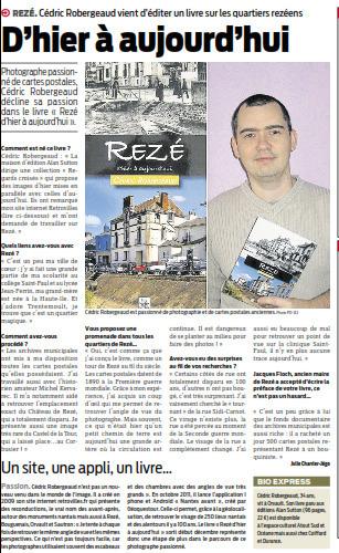 Le livre Rezé d'hier à aujourd'hui dans Presse Océan | MaVilleAvant - Revue de presse | Scoop.it