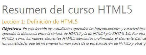 Curso HTML5 | Tic y Formación. | Scoop.it