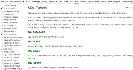 dbms vs rdbms' in JavaTpoint | Scoop it