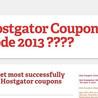 Hostgator Coupon Code 2013 50 OFF ??