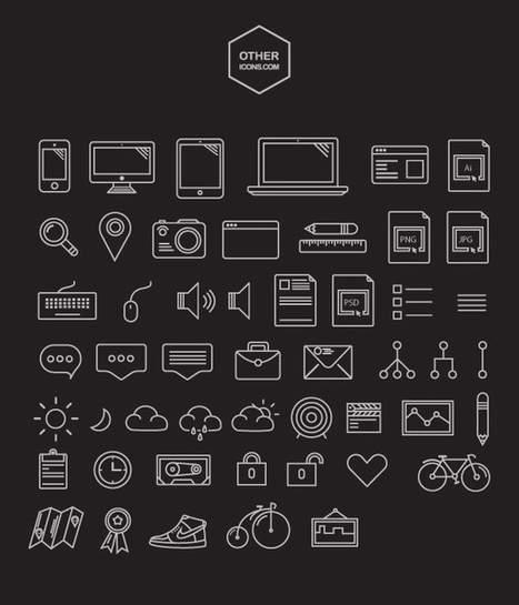 Free 60 Unique Outlines Icons by Lubos Volkov   Photoshop   Scoop.it