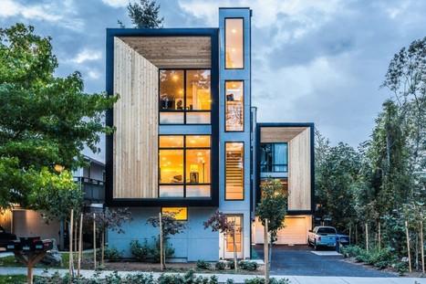 Originale maison contemporaine de ville sur 3 n...